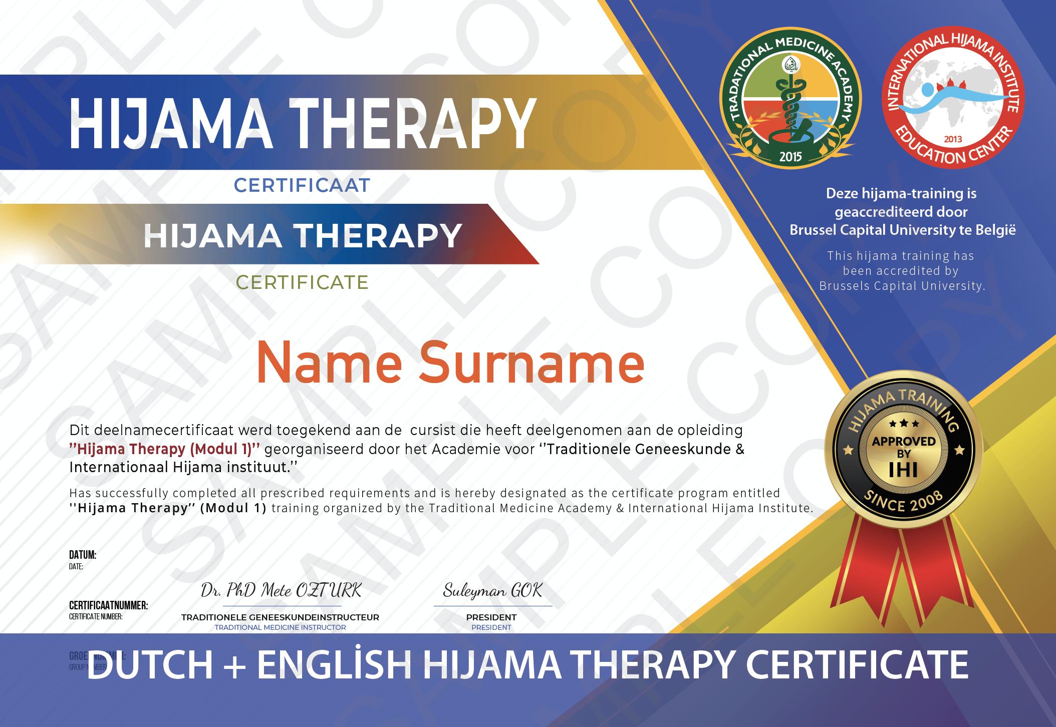 Hijama-Certificate-Leech-Therapy-Dutch